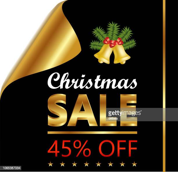 Christmas Forty Five Percent Sale On Golden Black Curled Luxury Paper