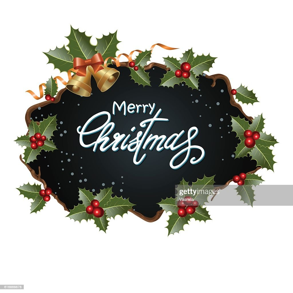 Christmas frame with decoration : Vector Art