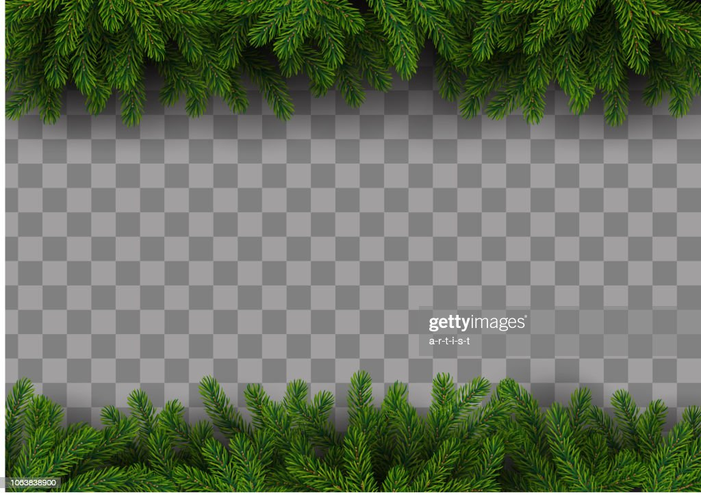 Christmas frame with fir tree : stock illustration