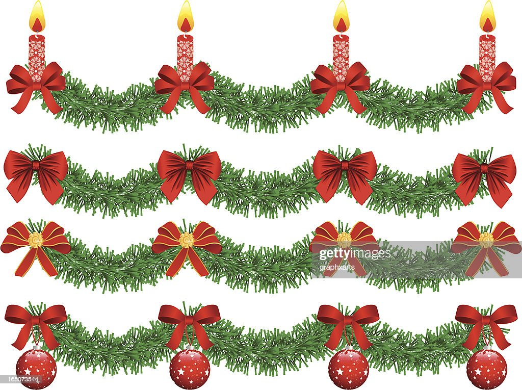 Christmas Garland Stock Illustration Getty Images