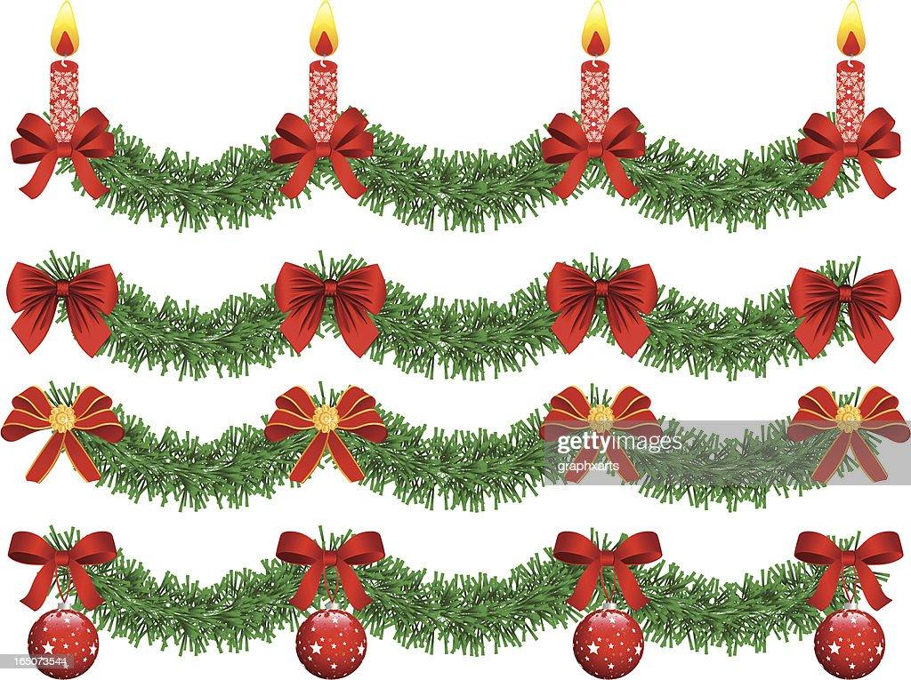 Christmas garland : stock illustration