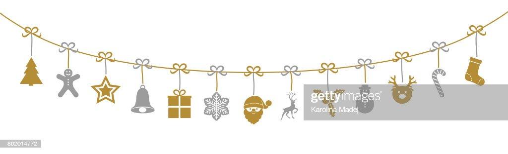 Christmas garland. Vector.
