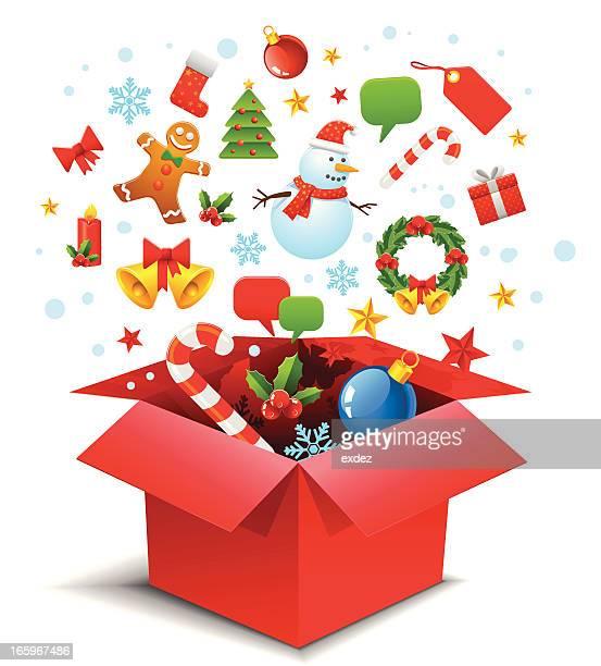 Christmas gift box explore
