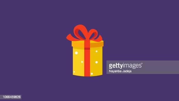 christmas gift box santa special birthday gift - magical equipment stock illustrations, clip art, cartoons, & icons