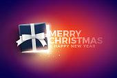 Christmas Gift Box with magical lights