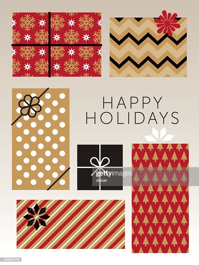 Christmas gift boxes illustration getty images christmas gift boxes illustration negle Gallery