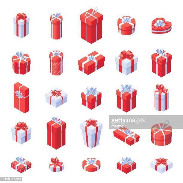 ilustraciones, imágenes clip art, dibujos animados e iconos de stock de cajas de regalo de navidad - caja de regalo