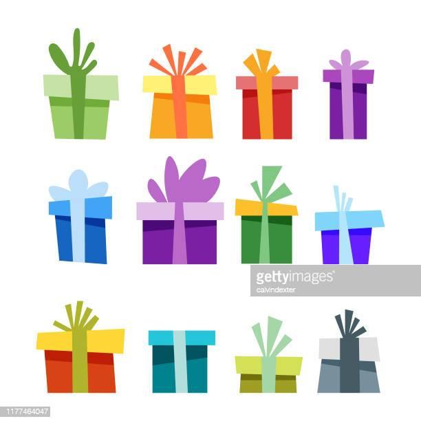 クリスマスギフトボックス - 誕生日の贈り物点のイラスト素材/クリップアート素材/マンガ素材/アイコン素材