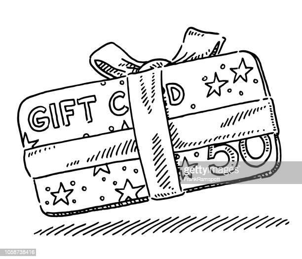 Weihnachten Geschenk Karte Zeichnung