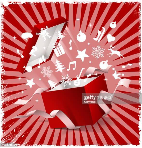 christmas gift exploding
