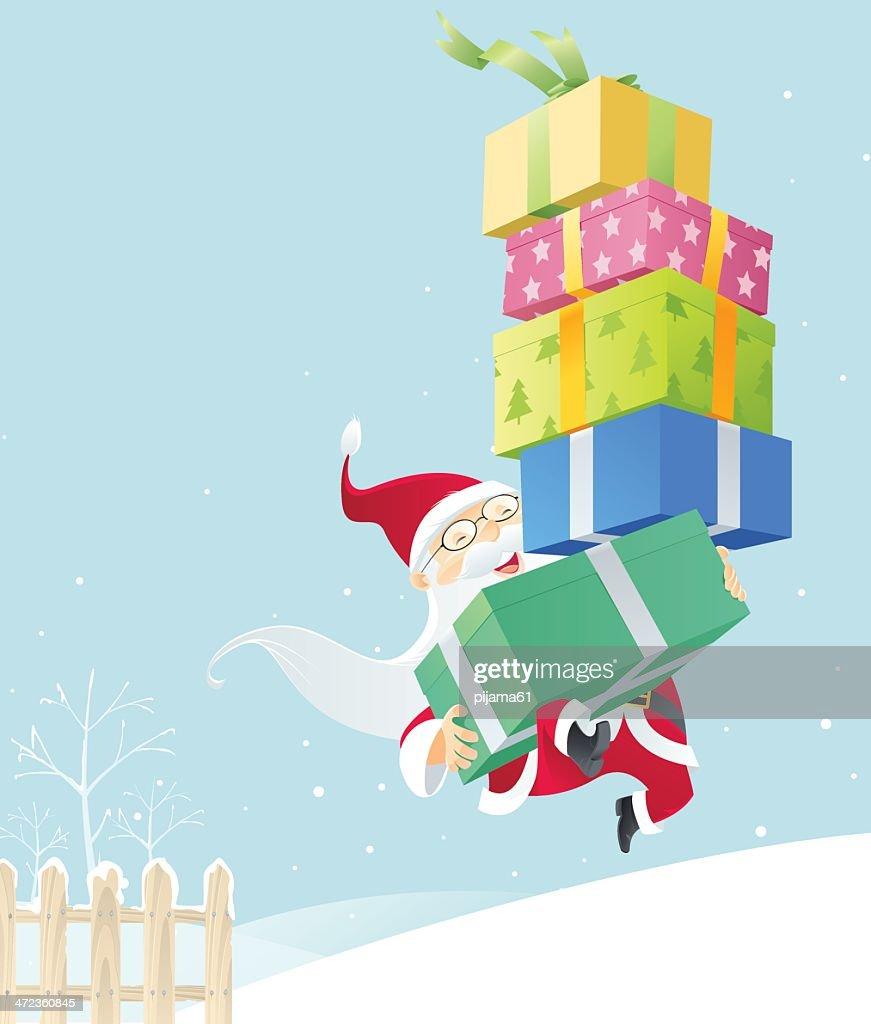 Cadeaux de Noël Santa Clause Père Noël don d/'emballage papier déco