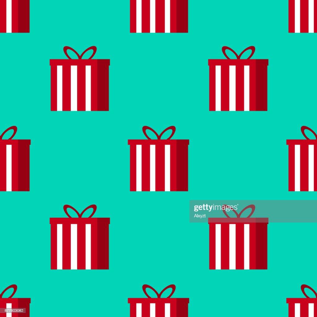 Weihnachtsgeschenke Seamless Pattern Toll Für Weihnachten Und Winter ...