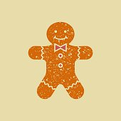 Christmas ginger cookies. The gingerbread man
