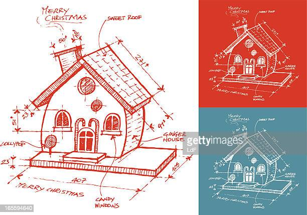 christmas ginger house - gingerbread house stock illustrations, clip art, cartoons, & icons