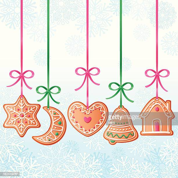 christmas gingerbreads - gingerbread house stock illustrations, clip art, cartoons, & icons