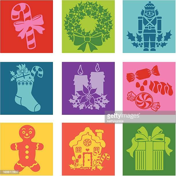 christmas goodies pop art - gingerbread house stock illustrations, clip art, cartoons, & icons
