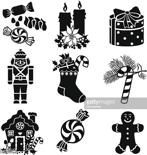 christmas goodies - gingerbread house stock illustrations, clip art, cartoons, & icons