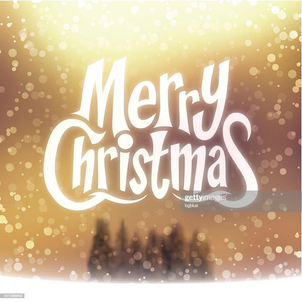 Frohe Weihnachten Schriftzug Beleuchtet.Weihnachten Grußkarte Frohe Weihnachtenschriftzug Auf Strahlend
