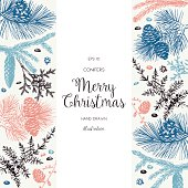 Christmas greeting card or invitation design.