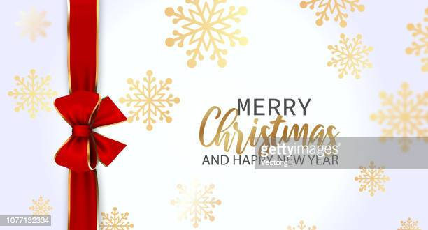 christmas greeting card - tied bow stock illustrations
