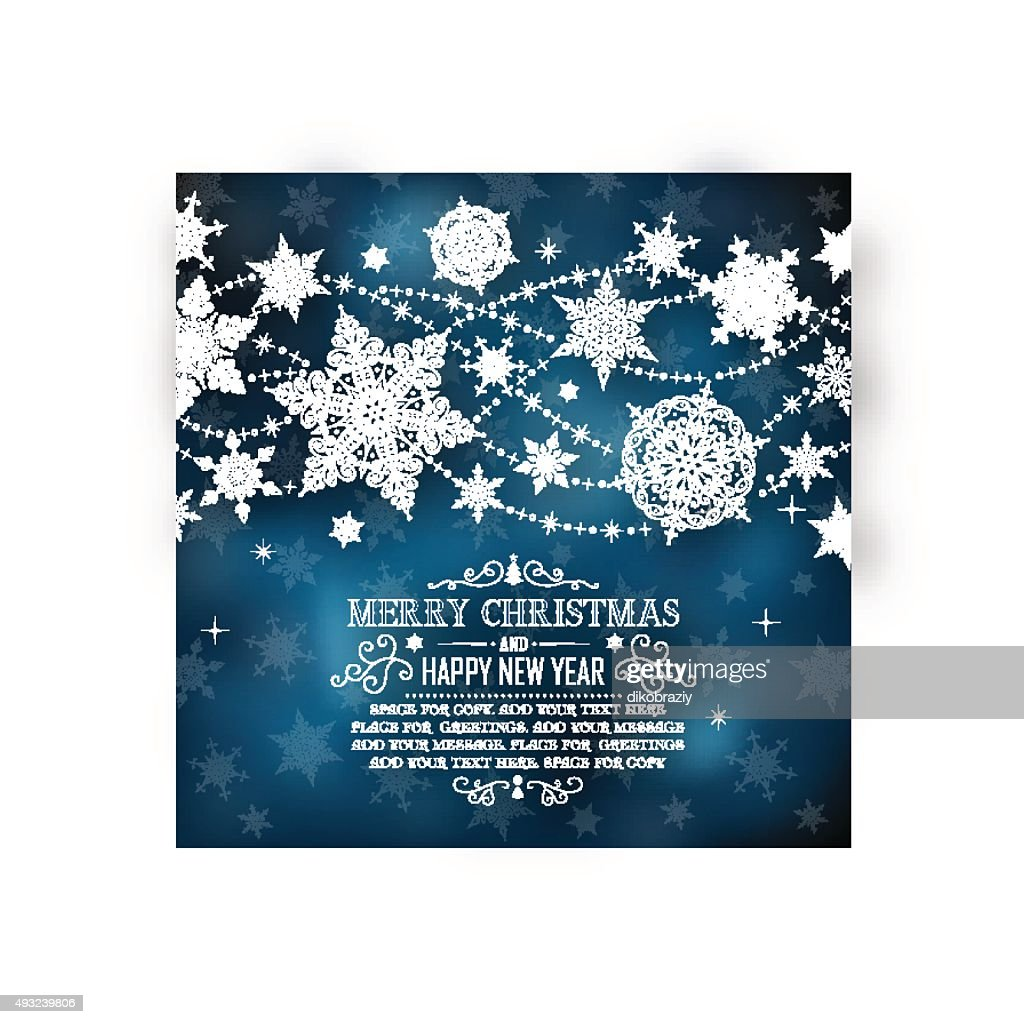 Christmas Greeting Card with Space for Copy - Illustration