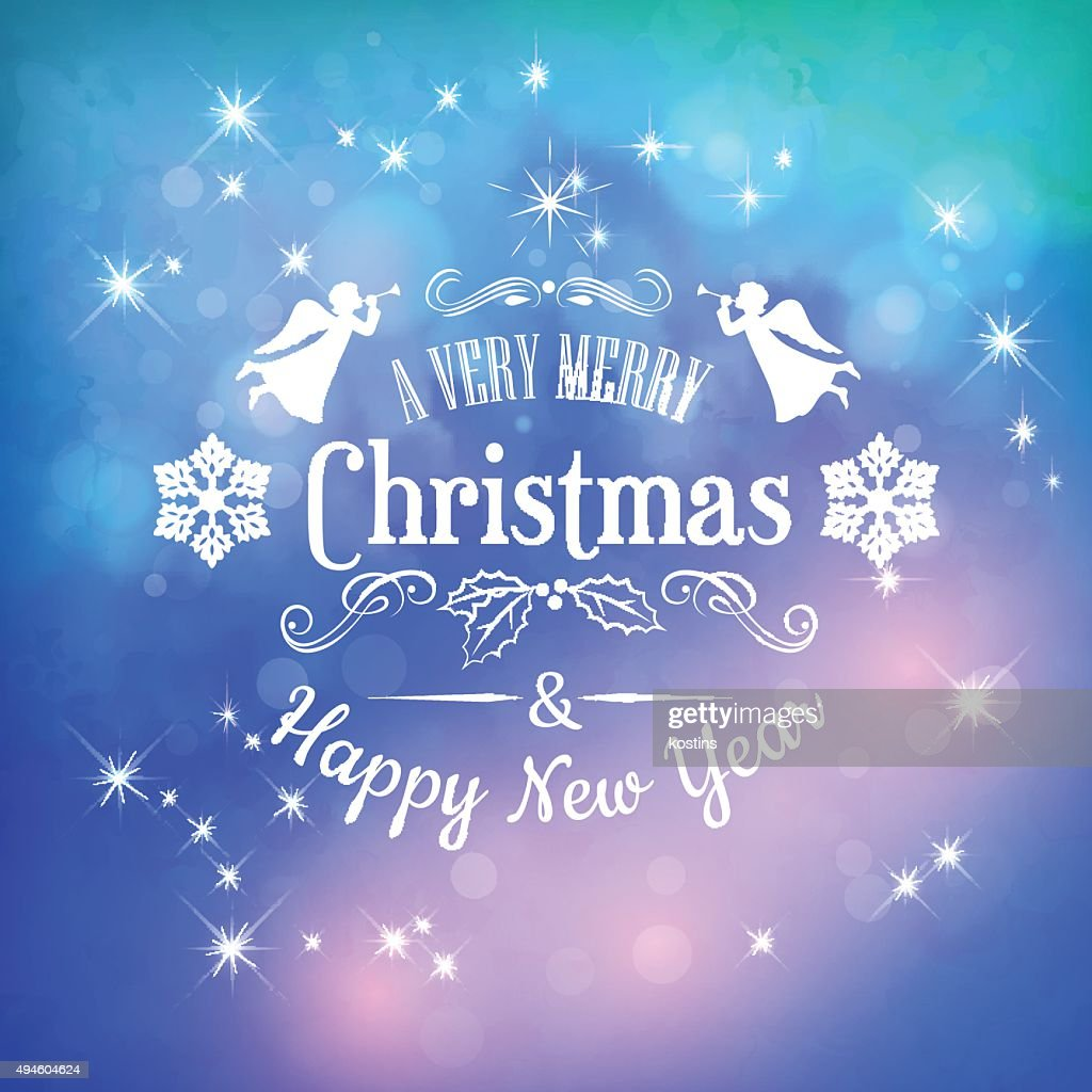Christmas Greeting Card with Typography