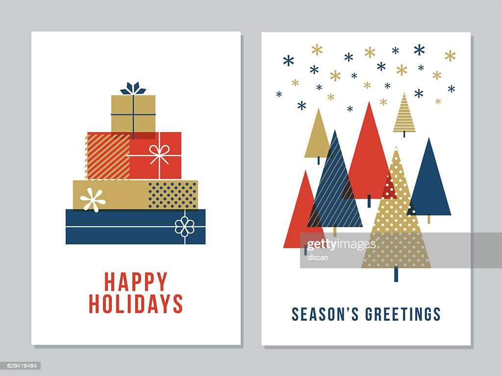 Christmas Greeting Cards Collection - Illustration : ストックイラストレーション