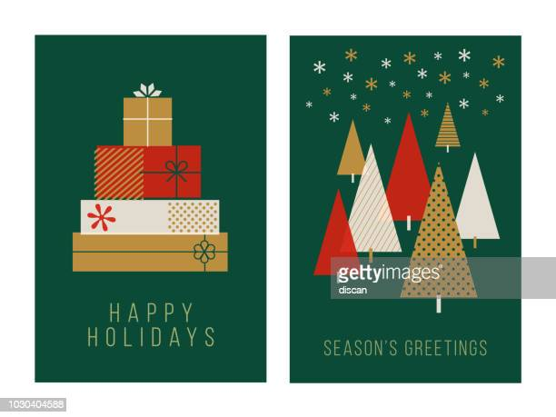 christmas greeting cards collection - candle stock illustrations, clip art, cartoons, & icons