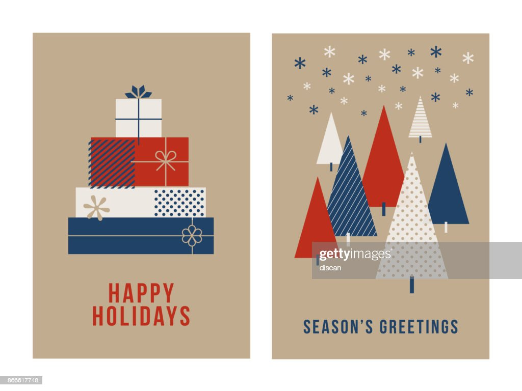 Christmas Greeting Cards Collection. : stock illustration