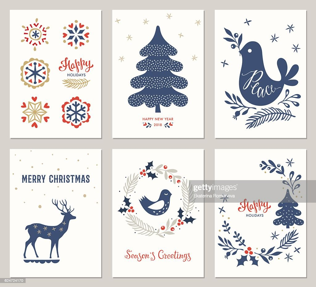 Christmas Greeting Cards Set