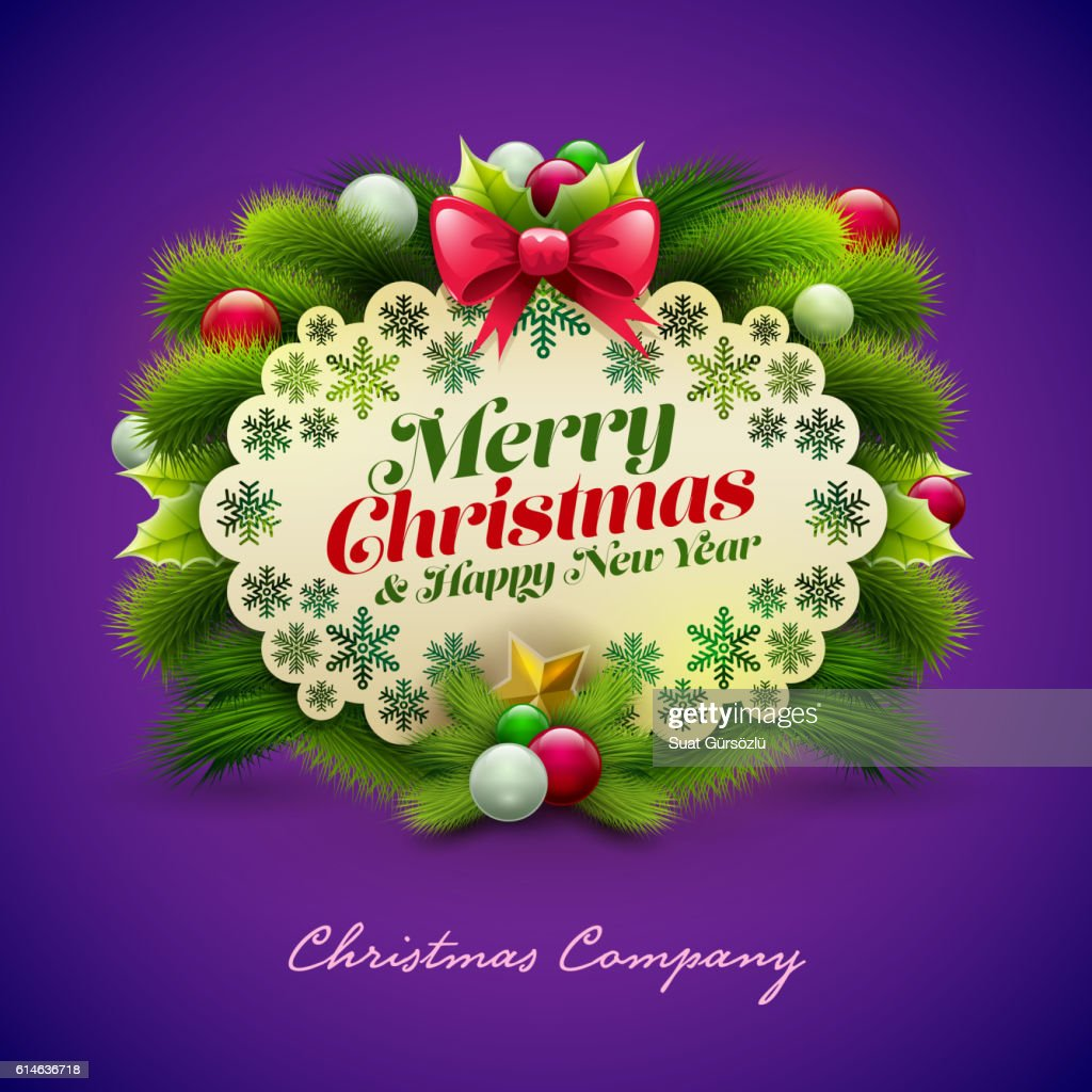 Christmas Greeting Design Vector Art Getty Images