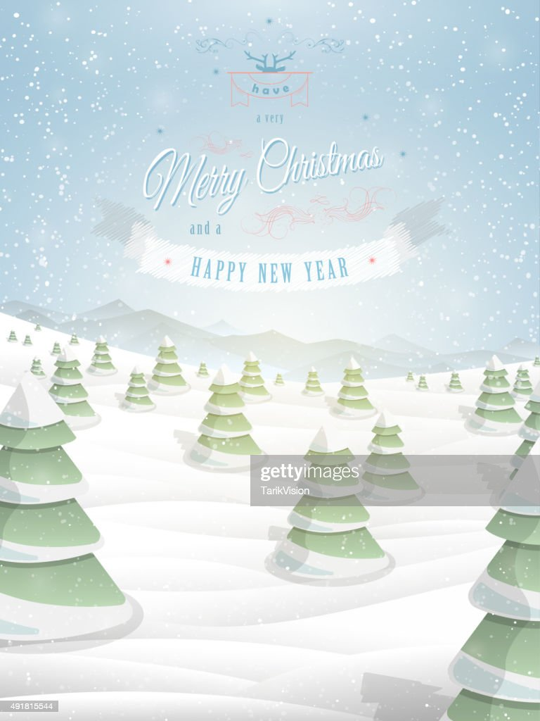 Christmas Greeting Template Vector Illustration Vector Art Getty