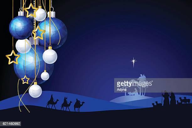 ilustraciones, imágenes clip art, dibujos animados e iconos de stock de felicitación de navidad  - los tres reyes magos