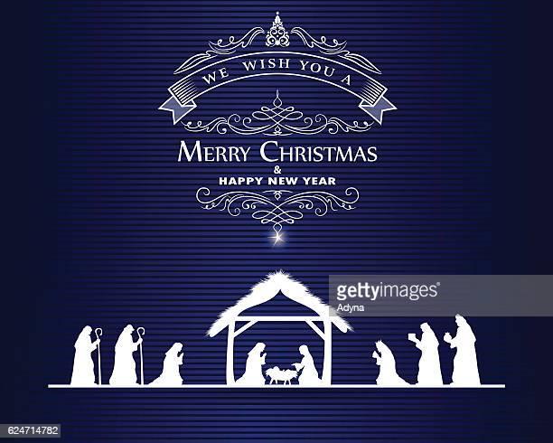 christmas greeting - star of bethlehem religious symbol stock illustrations, clip art, cartoons, & icons