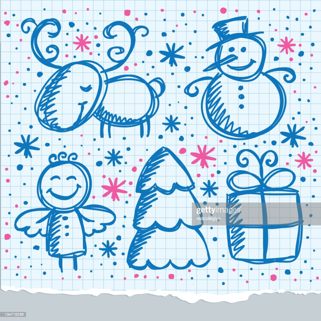 christmas hand drawn design