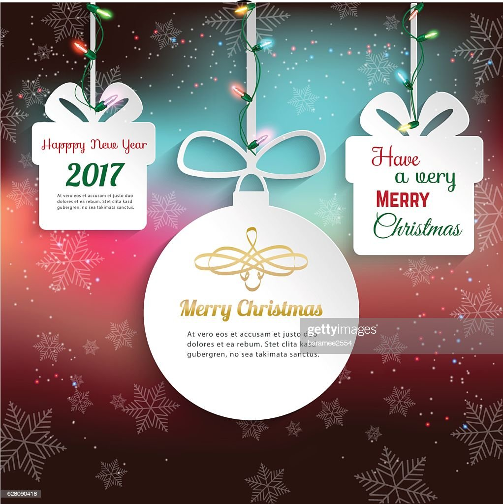 Christmas & Happy New Year 2017 ornament,