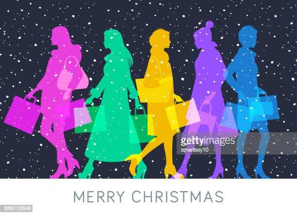 Christmas High Street Shoppers