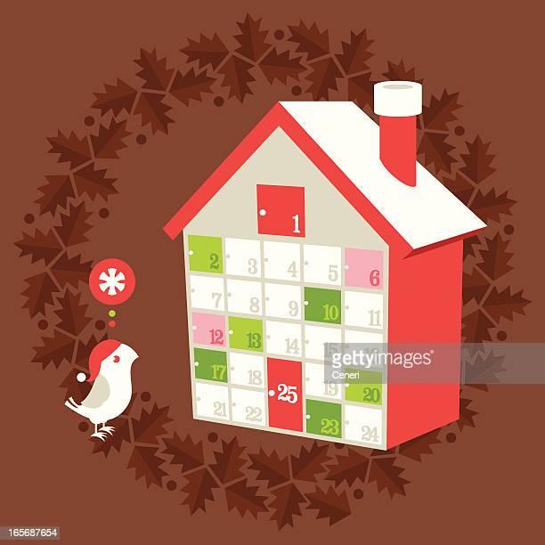 illustrations, cliparts, dessins animés et icônes de vacances de noël, calendrier de l'avent - avent