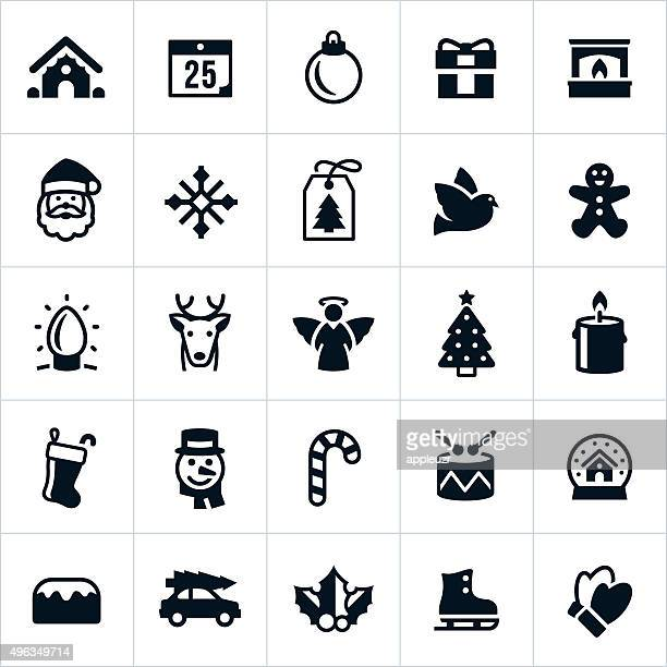 christmas holiday icons - gingerbread house stock illustrations, clip art, cartoons, & icons