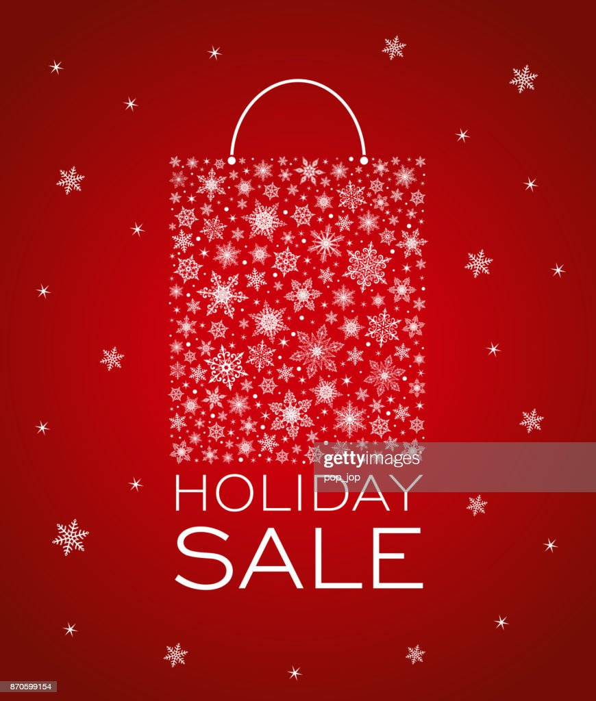 Christmas Holiday Winter New Year Sale Background Snowflake Shopping Bag High Res Vector Graphic Getty Images