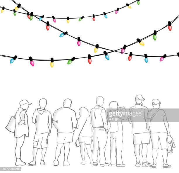 christmas holidays group - heterosexual couple stock illustrations, clip art, cartoons, & icons