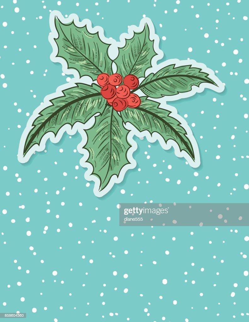 Christmas Holly Hintergrund : Stock-Illustration