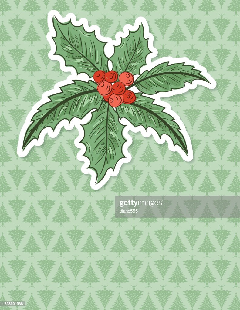 Christmas Holly Hintergrund : Stock-Illustration