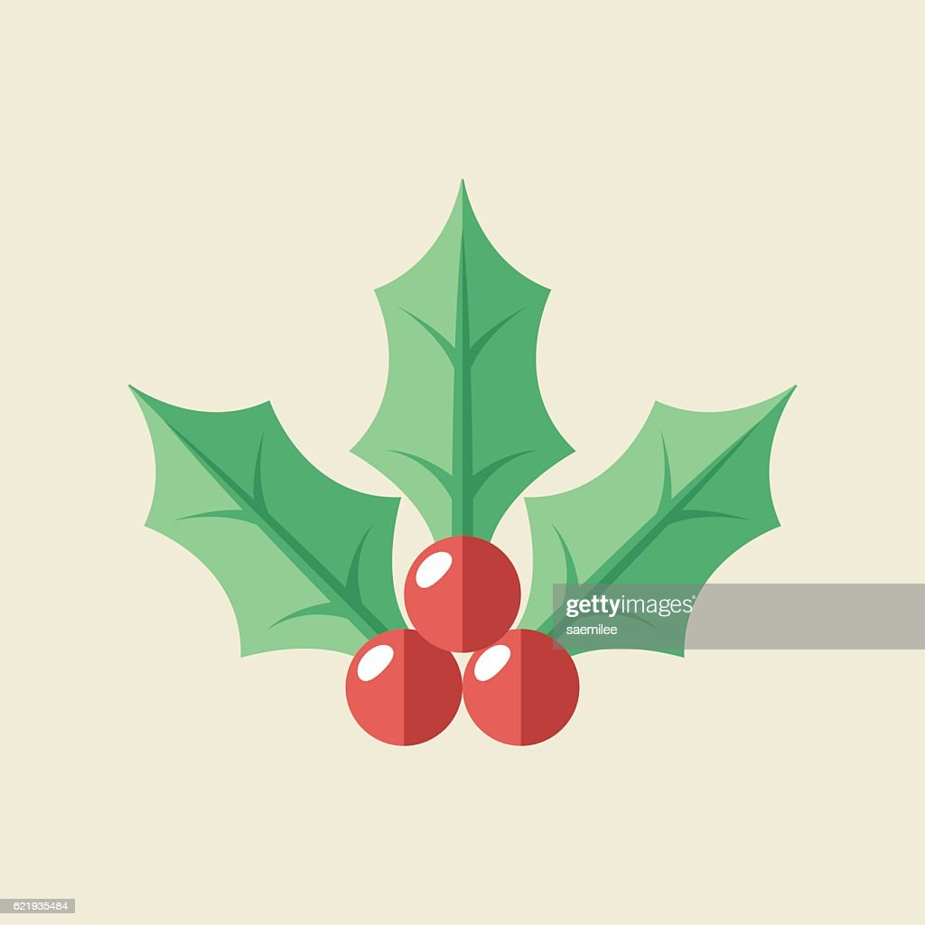 Christmas Holly Icon