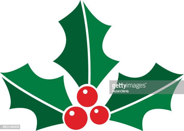 Christmas Holly Clip Art.World S Best Holly Stock Illustrations Getty Images