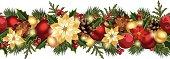 Christmas horizontal seamless background. Vector eps-10.