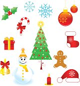 Christmas icon collection - Illustration