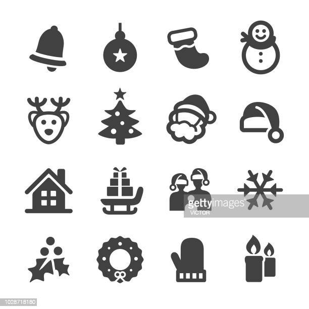 christmas icon set - acme series - candle stock illustrations, clip art, cartoons, & icons