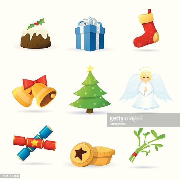クリスマスのアイコンセット - クリスマスクラッカー点のイラスト素材/クリップアート素材/マンガ素材/アイコン素材
