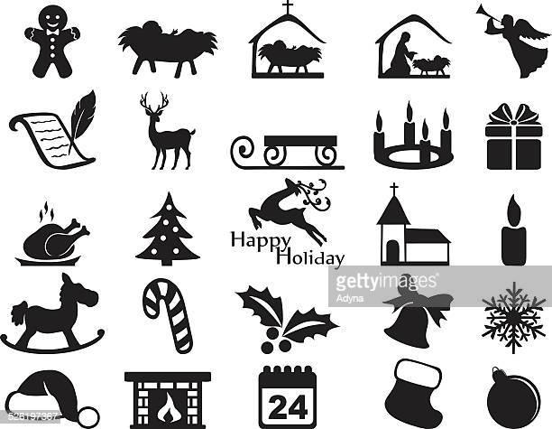 ilustraciones, imágenes clip art, dibujos animados e iconos de stock de icono de navidad - nacimiento de navidad